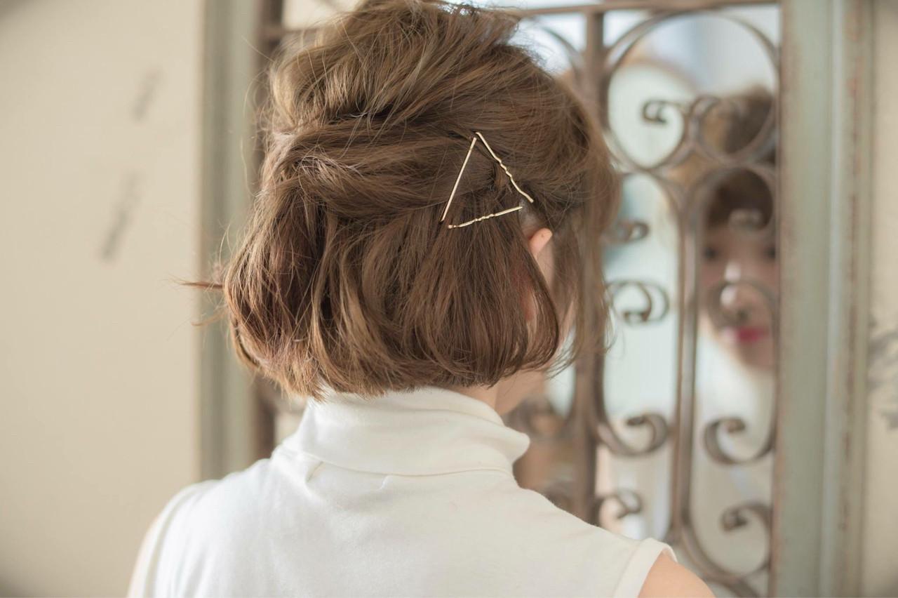 ショートやボブでもたくさん楽しめるヘアアレンジ10選♡ 松下 真輔  keep hair design