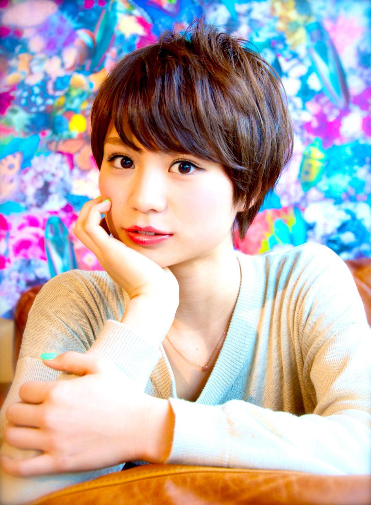 顔まわりすっきり!丸顔女子におすすめのベリーショートスタイル 穂積 聡 / DECO