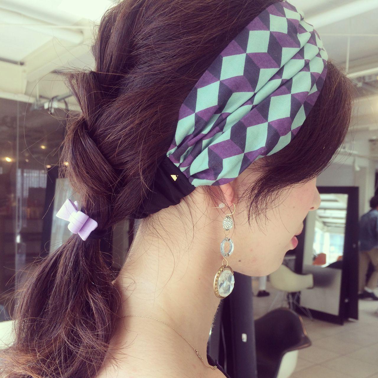 ヘアアレンジ ヘアアクセ 編み込み 簡単 ヘアスタイルや髪型の写真・画像