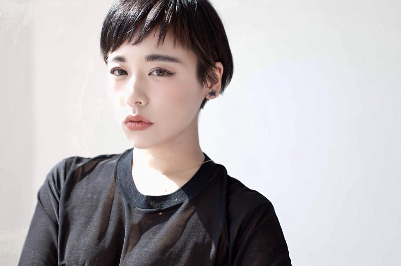 モード 黒髪 大人女子 ショート ヘアスタイルや髪型の写真・画像