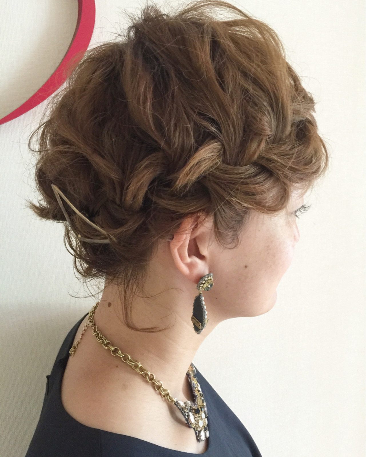 パーティ ガーリー ショート 結婚式 ヘアスタイルや髪型の写真・画像