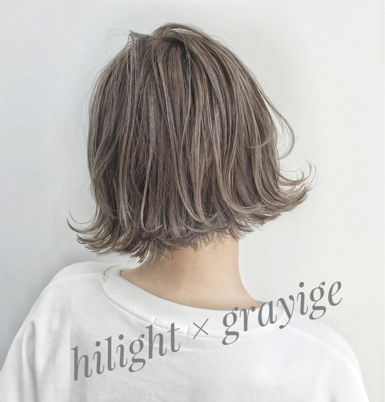 ハイライト グレージュ タンバルモリ ストリート ヘアスタイルや髪型の写真・画像
