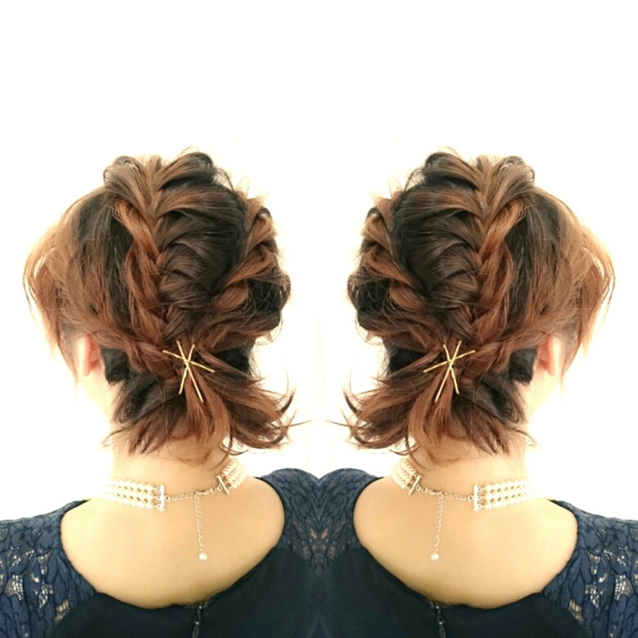 ショート ヘアアクセ ヘアアレンジ 上品 ヘアスタイルや髪型の写真・画像
