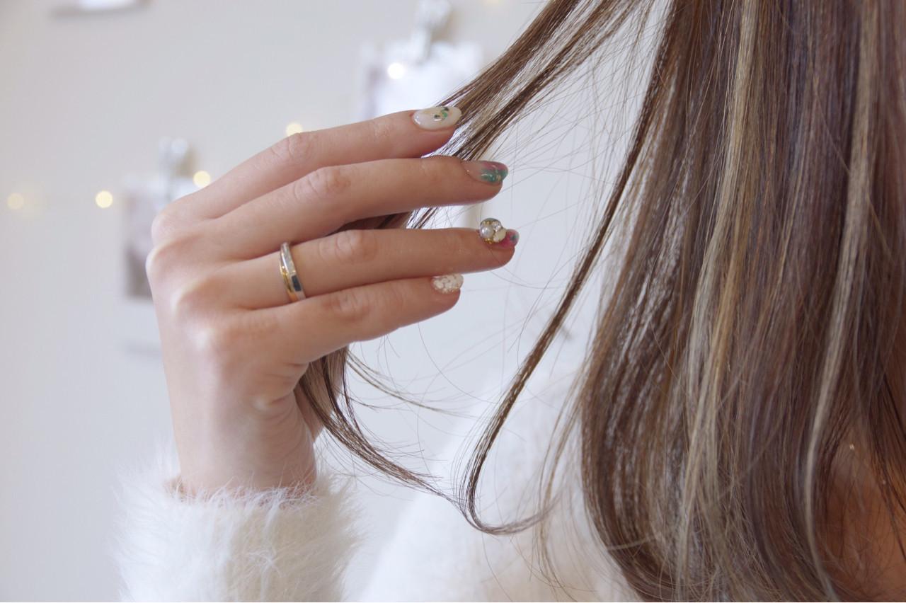 ハイライト 春 ボブ フェミニン ヘアスタイルや髪型の写真・画像