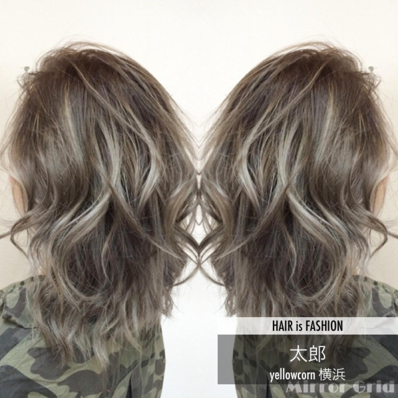 グラデーションカラー バレイヤージュ ストリート 外国人風 ヘアスタイルや髪型の写真・画像