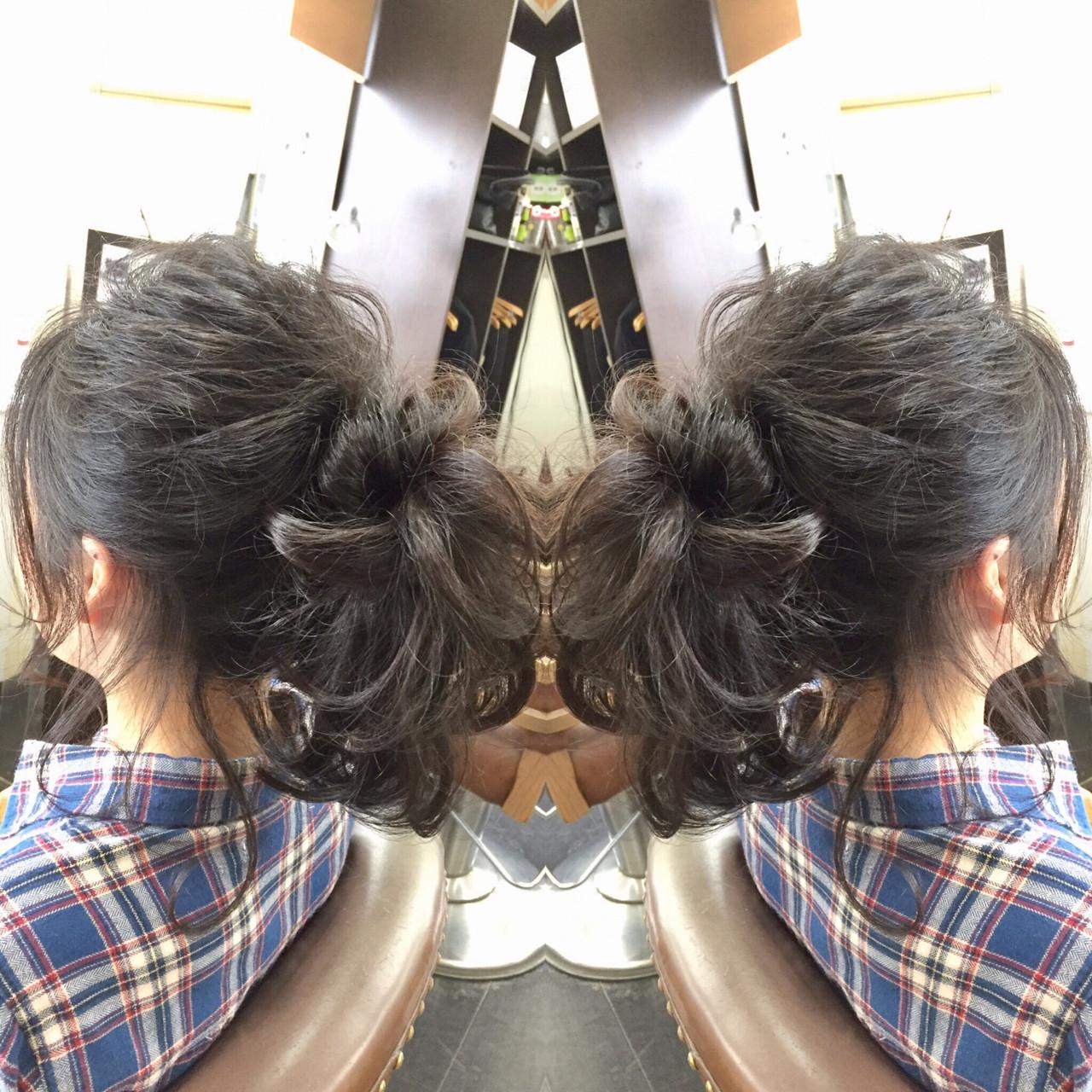 デート かわいい ヘアメイク セミロング ヘアスタイルや髪型の写真・画像