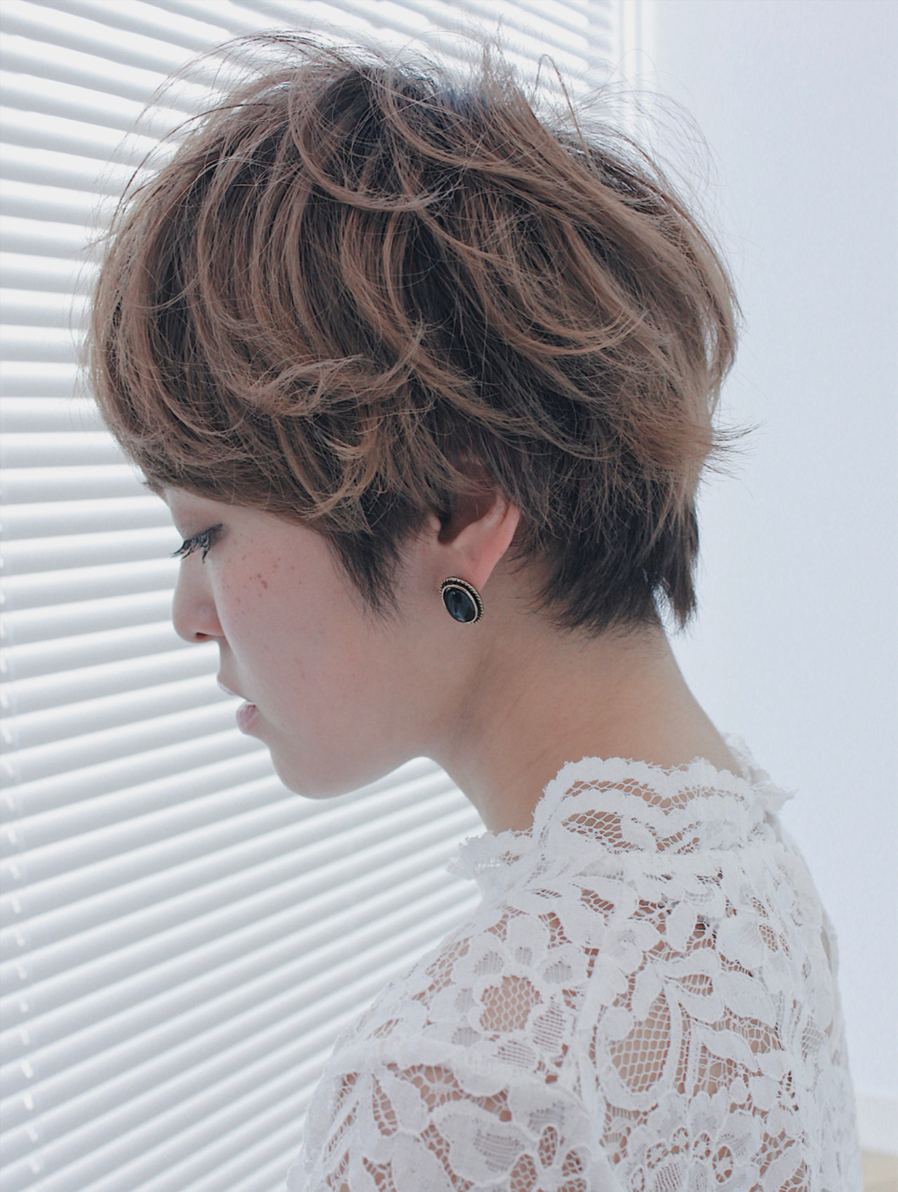 小顔 ショート ベリーショート ラフ ヘアスタイルや髪型の写真・画像