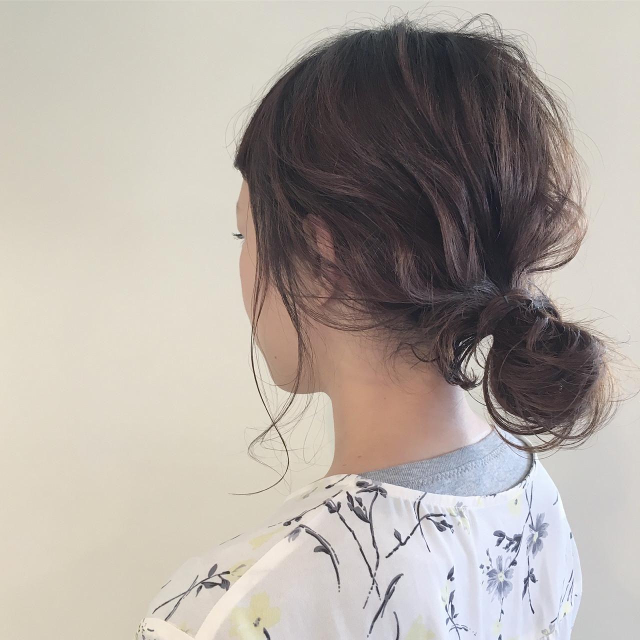 ハイライト ナチュラル デート ミディアム ヘアスタイルや髪型の写真・画像