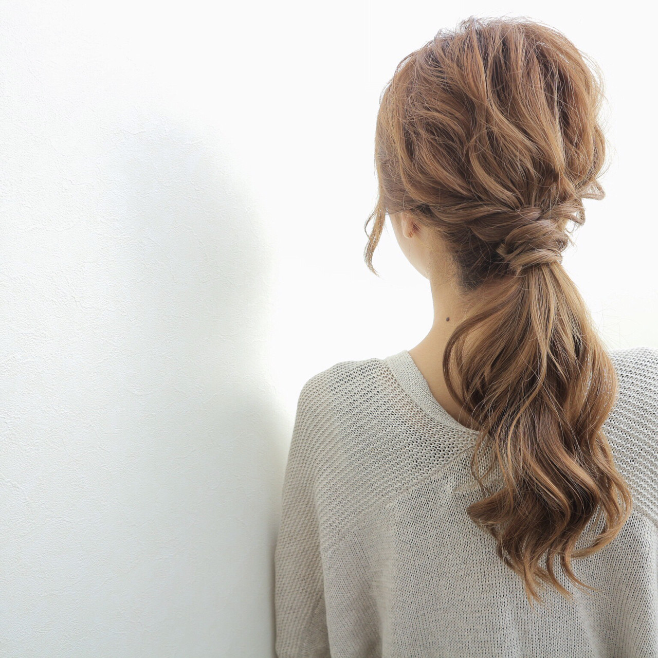 デート こなれ感 上品 セミロング ヘアスタイルや髪型の写真・画像