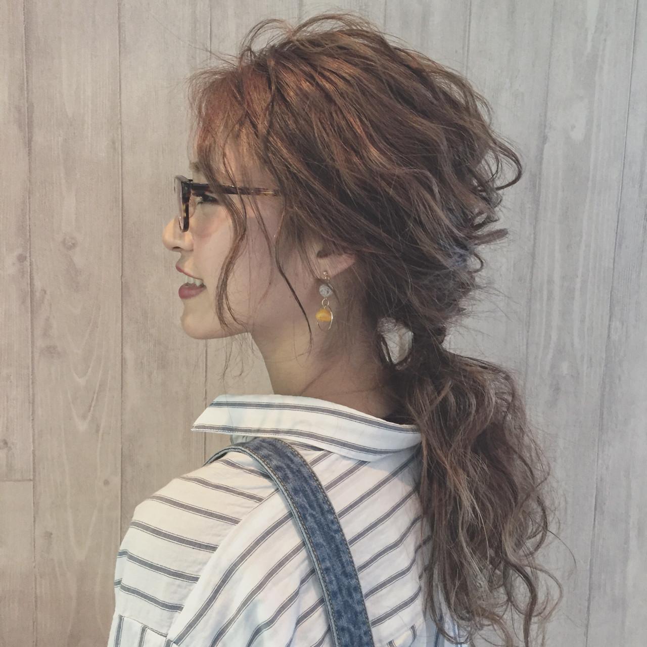 ふわふわ ガーリー ヘアアレンジ ポニーテール ヘアスタイルや髪型の写真・画像