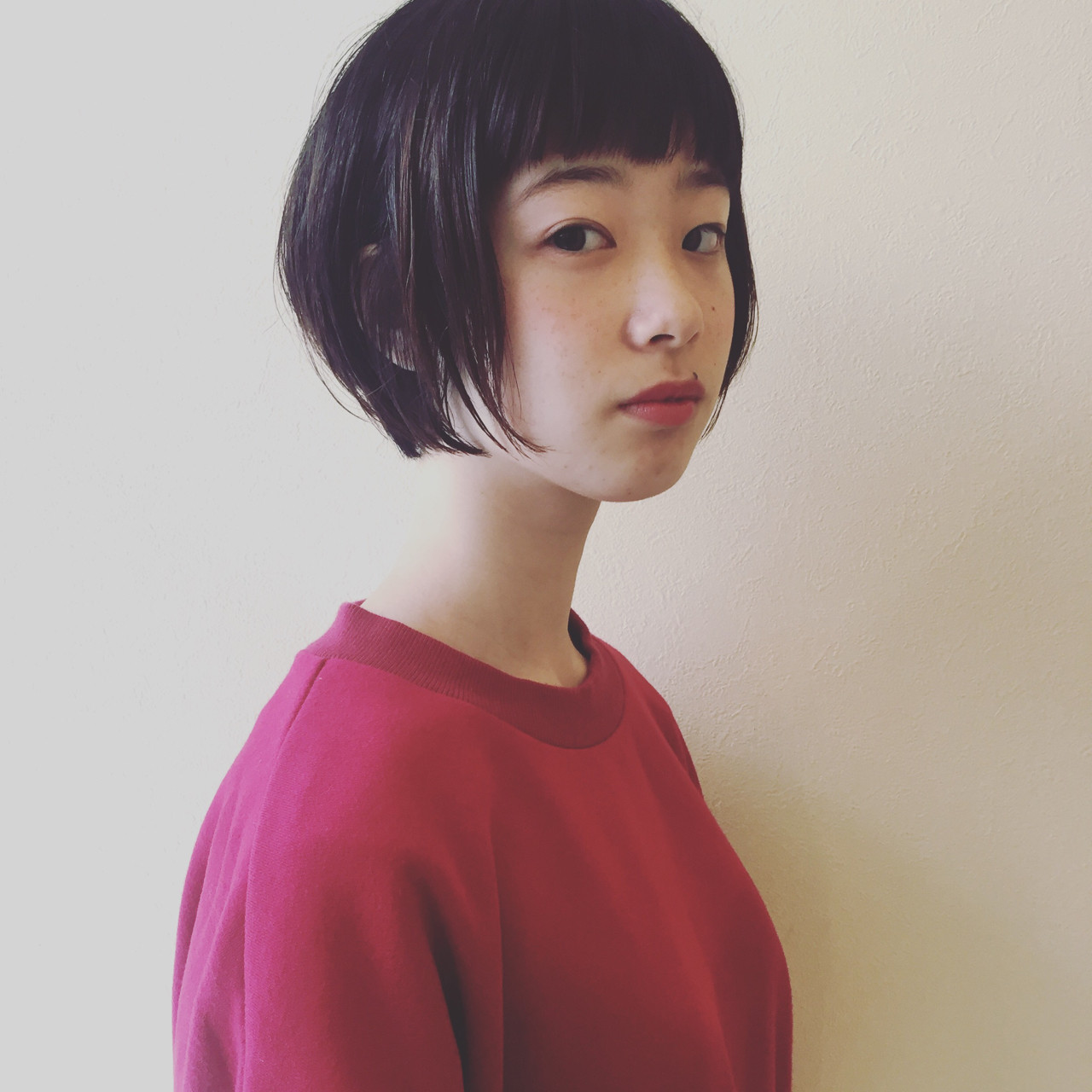 あなたの魅力を最大限引き出す!個性たっぷりぱっつん前髪で楽しむショート 田島 智子  BOB