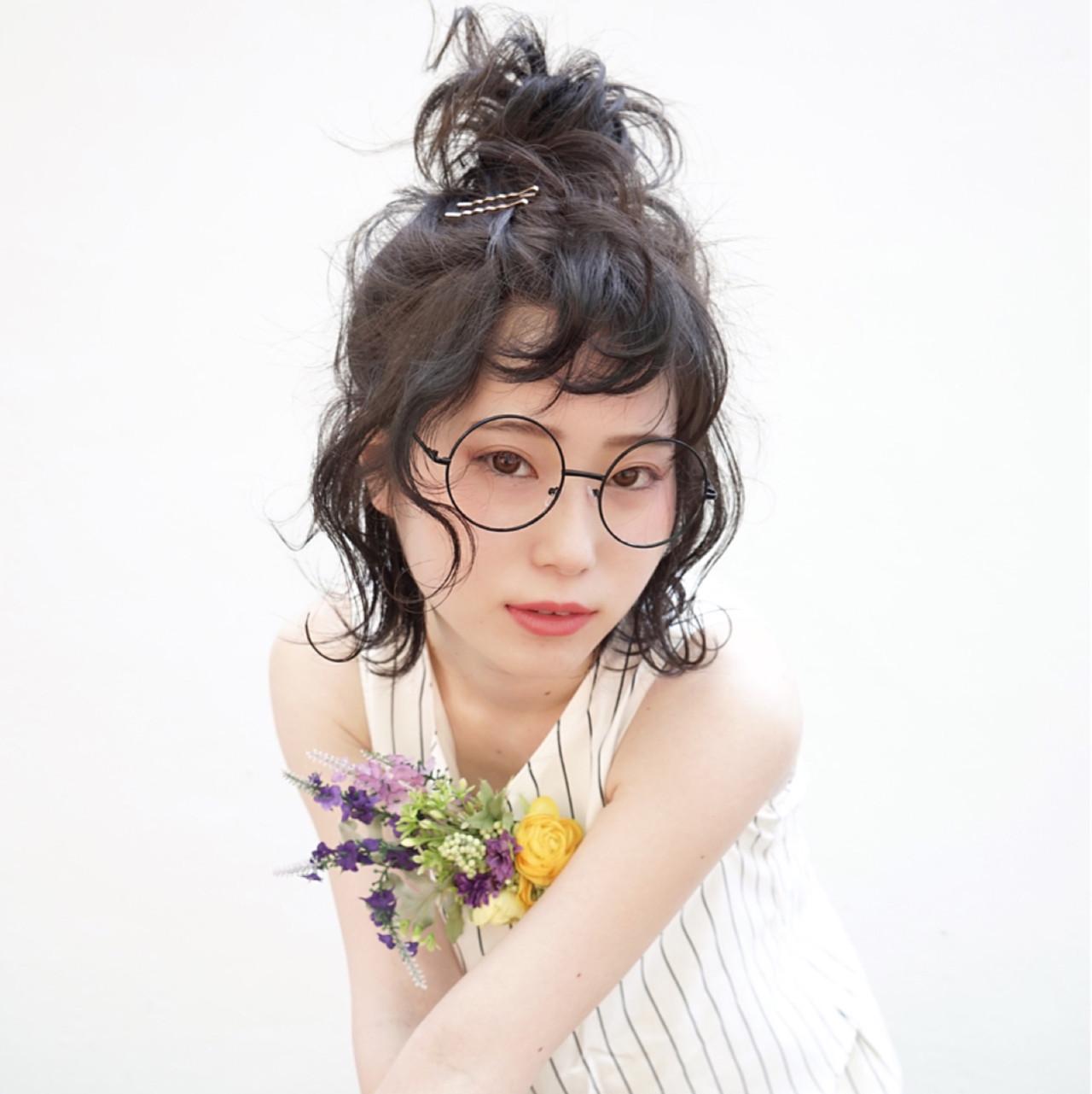 結婚式 ガーリー 黒髪 ヘアアレンジ ヘアスタイルや髪型の写真・画像