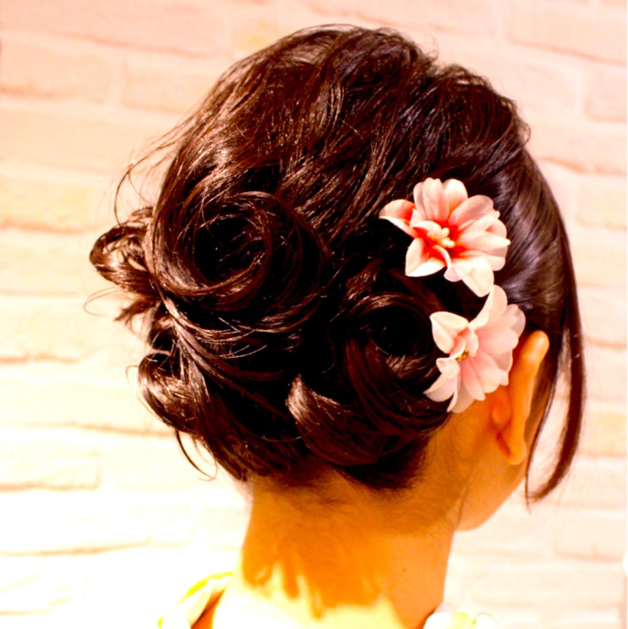 はんなり美しい着物美人に♡華やか艶やか和装にぴったりの髪型 城石 歩美