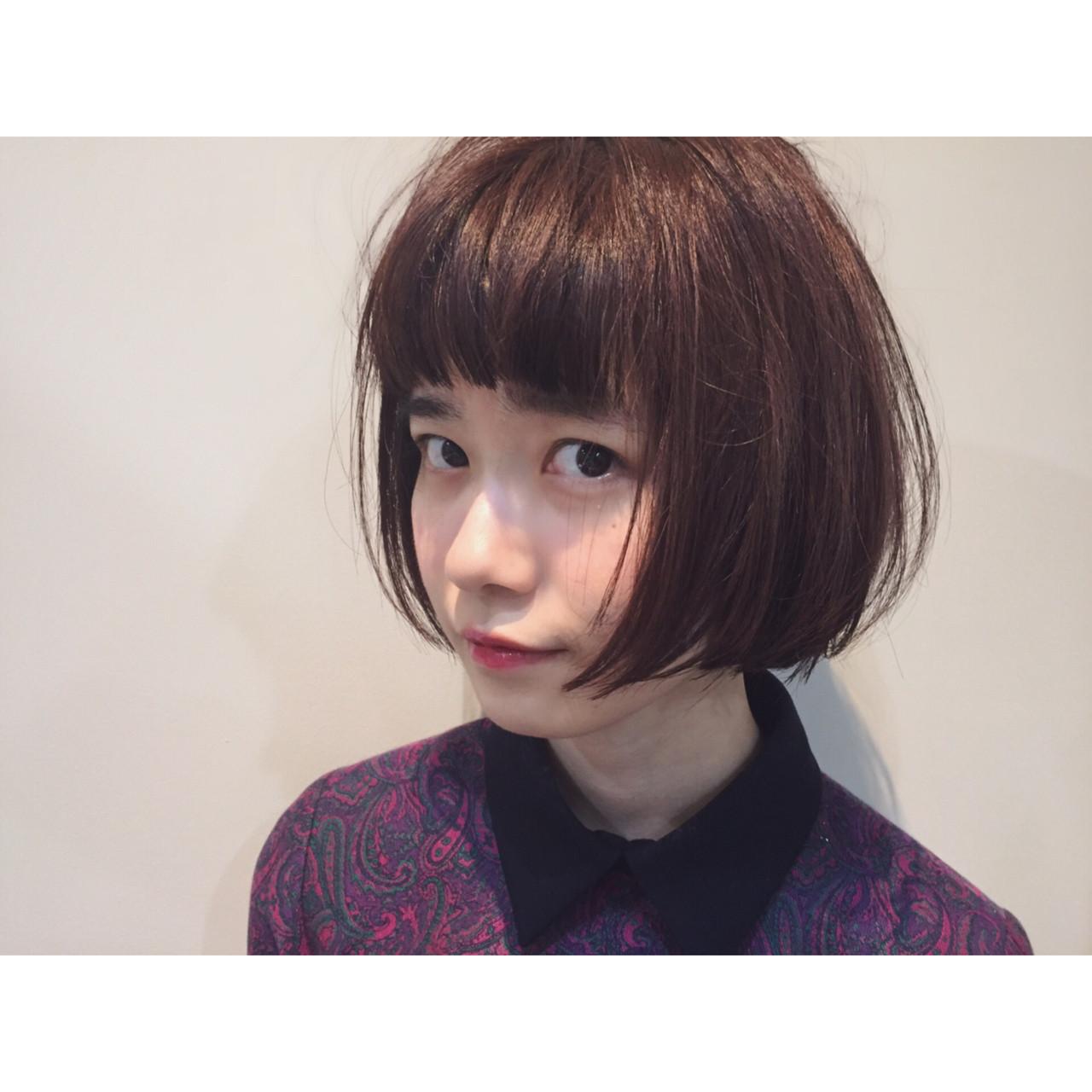 あなたの魅力を最大限引き出す!個性たっぷりぱっつん前髪で楽しむショート 大西 絢子/HOULe  HOULe