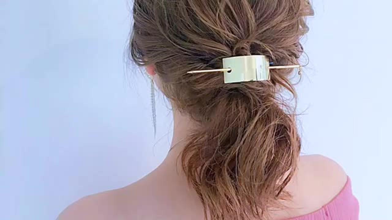 簡単ヘアアレンジ 女子会 ナチュラル アウトドア ヘアスタイルや髪型の写真・画像