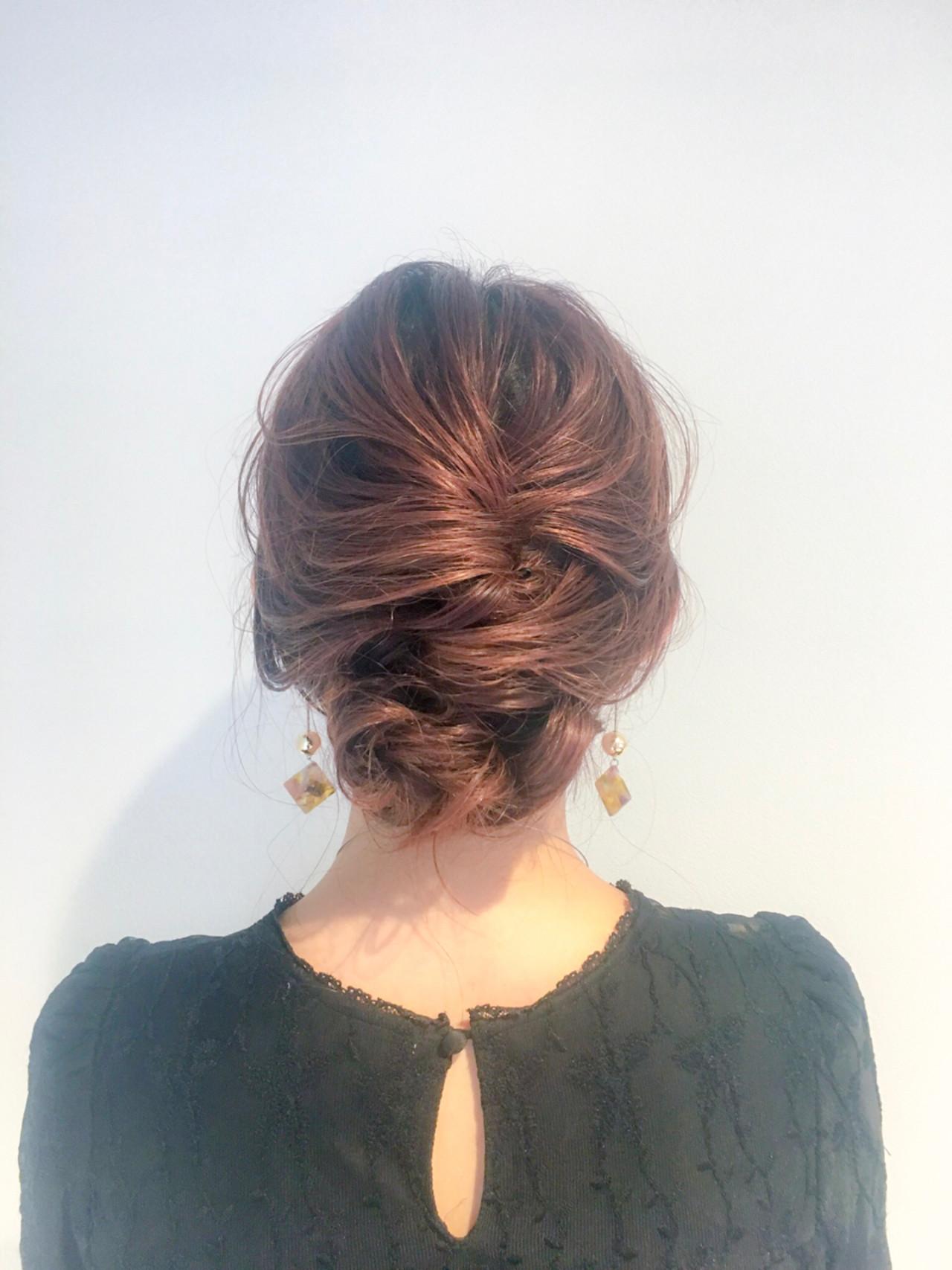 上品 ヘアアレンジ エレガント セミロング ヘアスタイルや髪型の写真・画像
