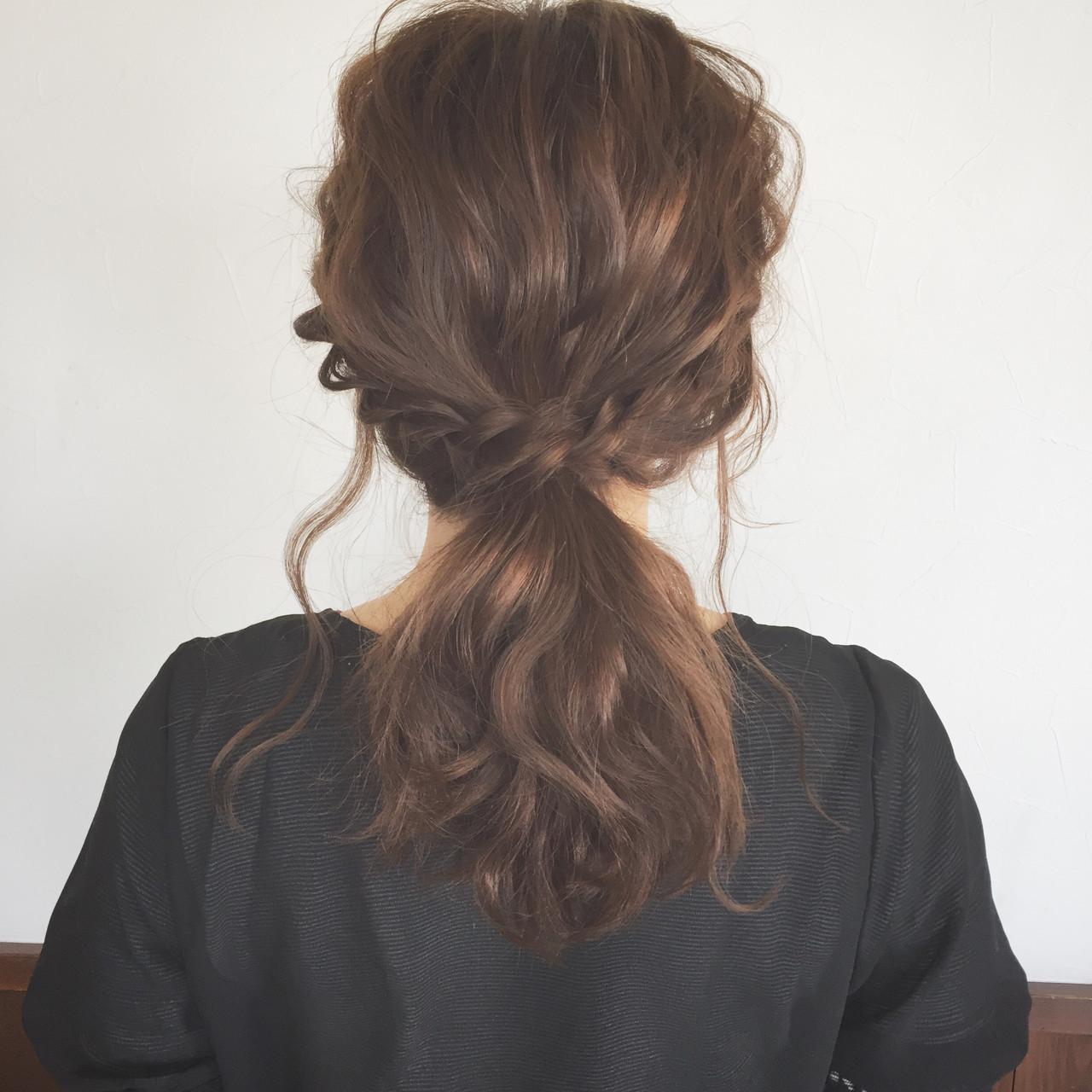 大人かわいい ヘアアレンジ デート ミディアム ヘアスタイルや髪型の写真・画像