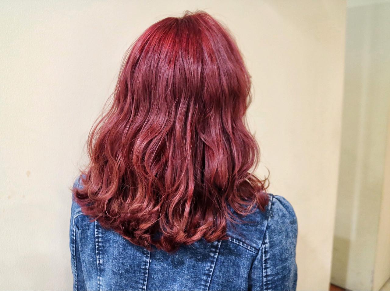 女子力アップ!チェリーピンクの髪色で春らしいモテ髪ゲット♪ 佐伯 優