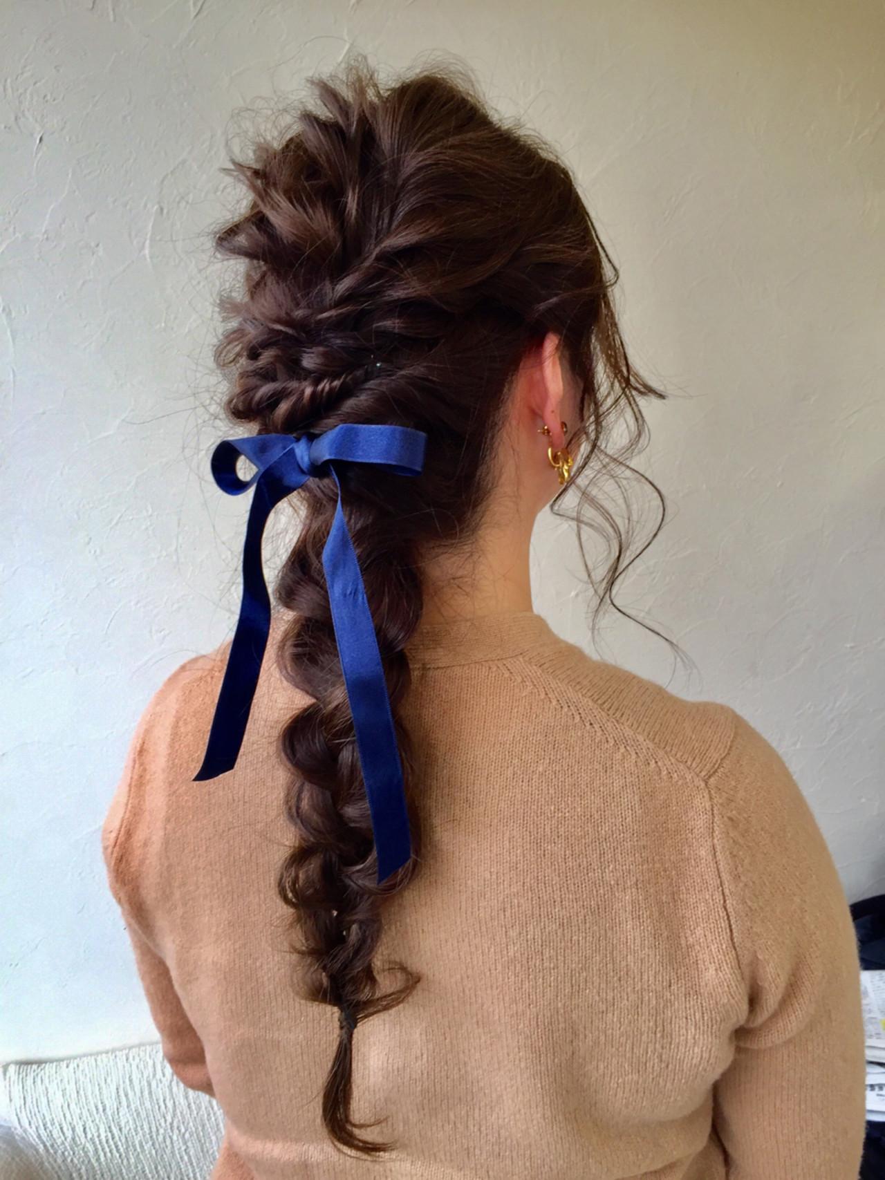 フェミニン 春 ヘアアレンジ アッシュ ヘアスタイルや髪型の写真・画像