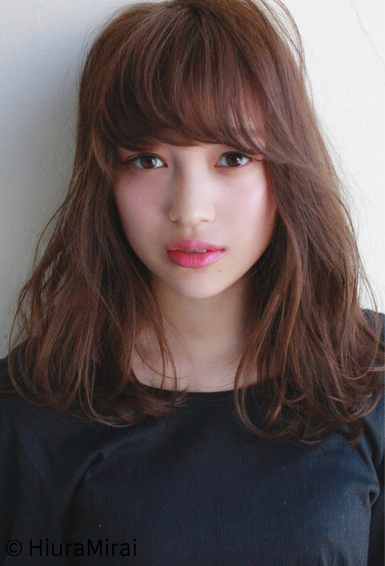 流し前髪でふんわりオシャレに可愛くなる♪作り方とキープの方法 HiuraMirai