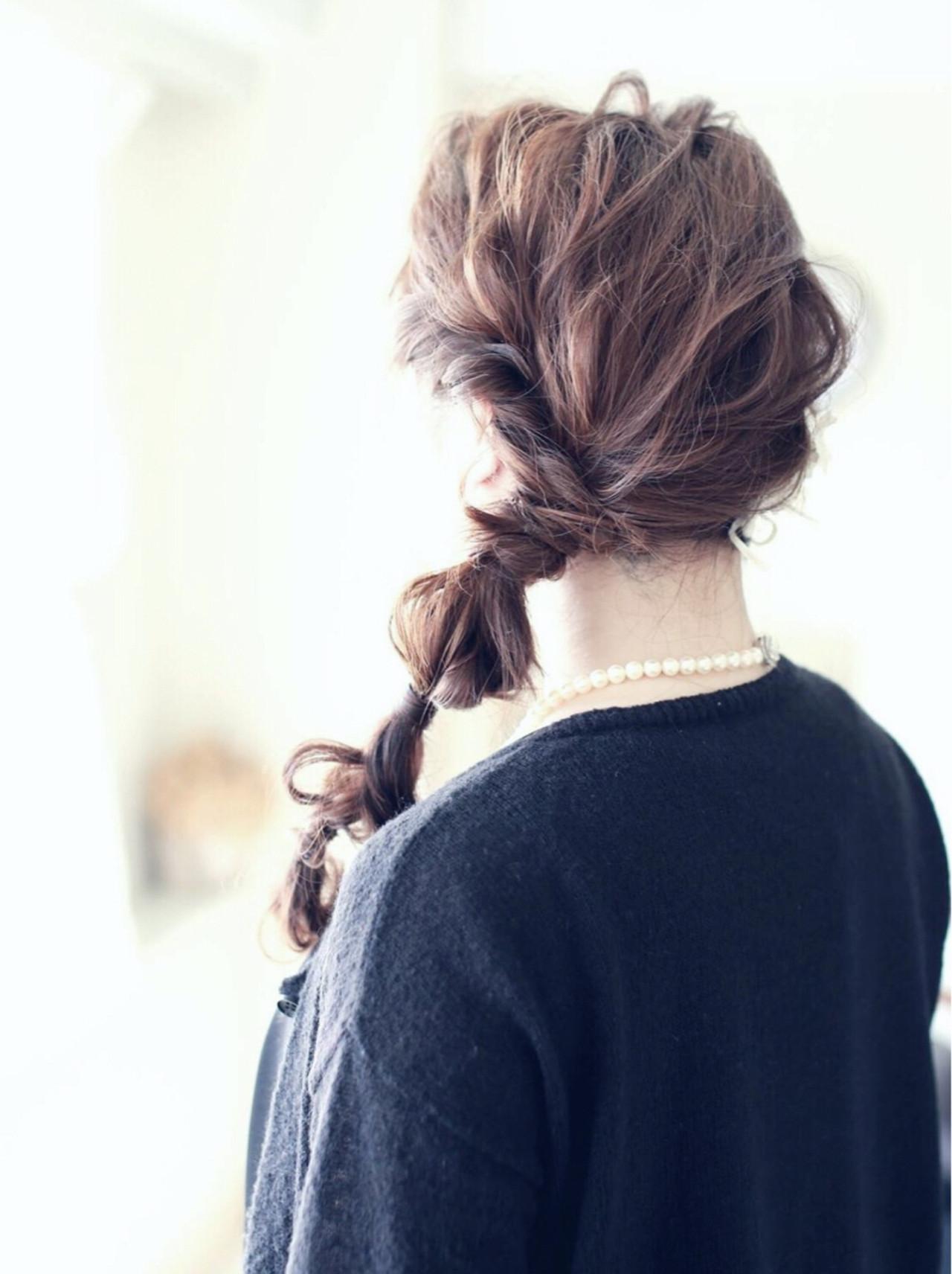 結婚式 ショート 簡単ヘアアレンジ デート ヘアスタイルや髪型の写真・画像