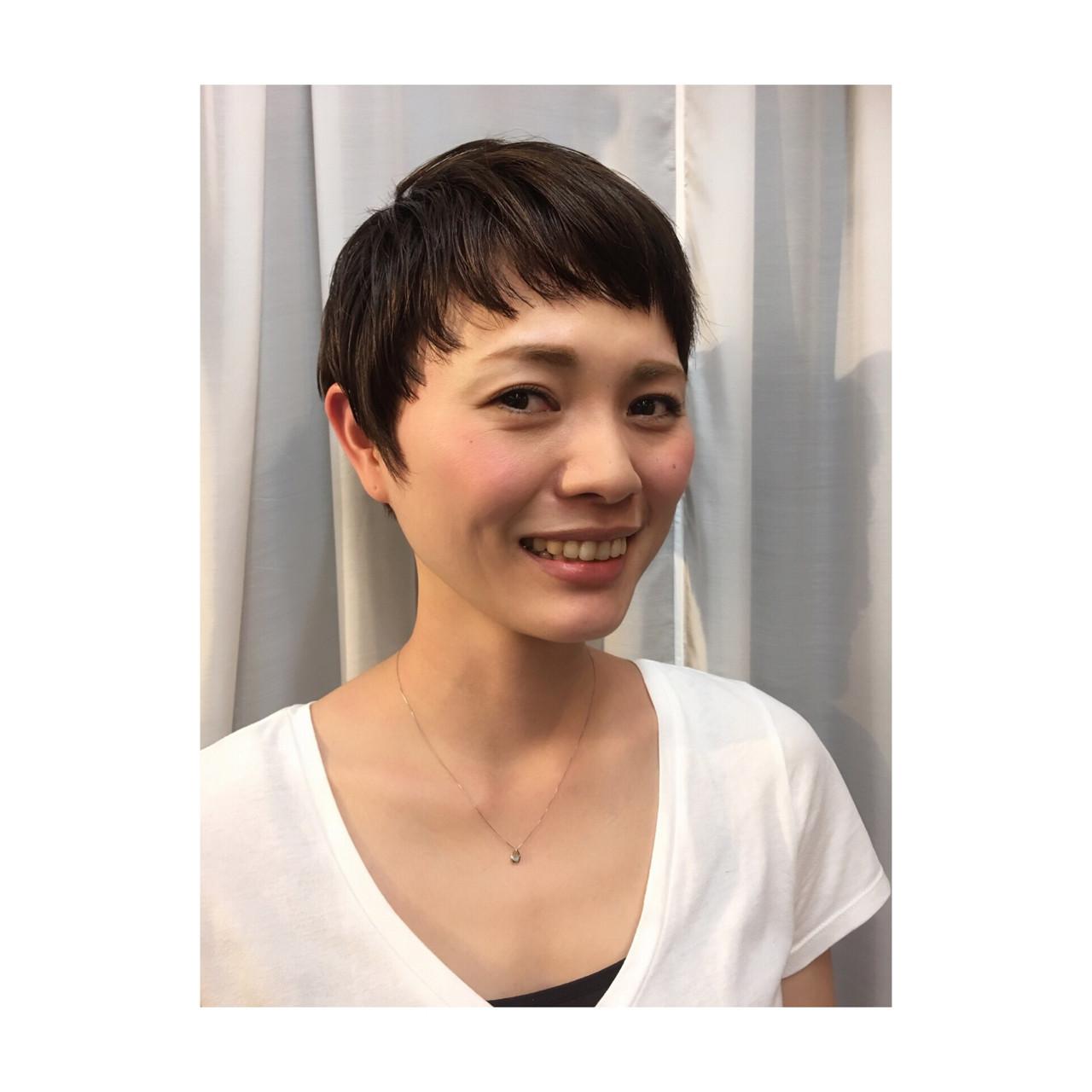 目指したいのは海外セレブの髪型!頭の形がきれいに見える外国人風ショート 福元 梓  precious oeil plus