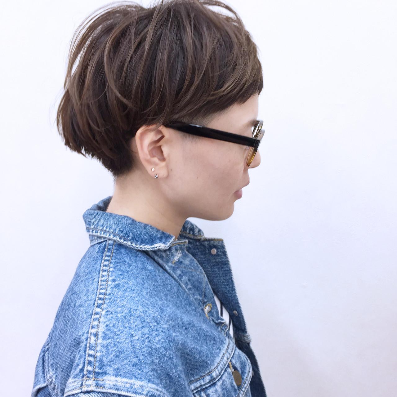 刈り上げ 坊主 ショート 冬 ヘアスタイルや髪型の写真・画像