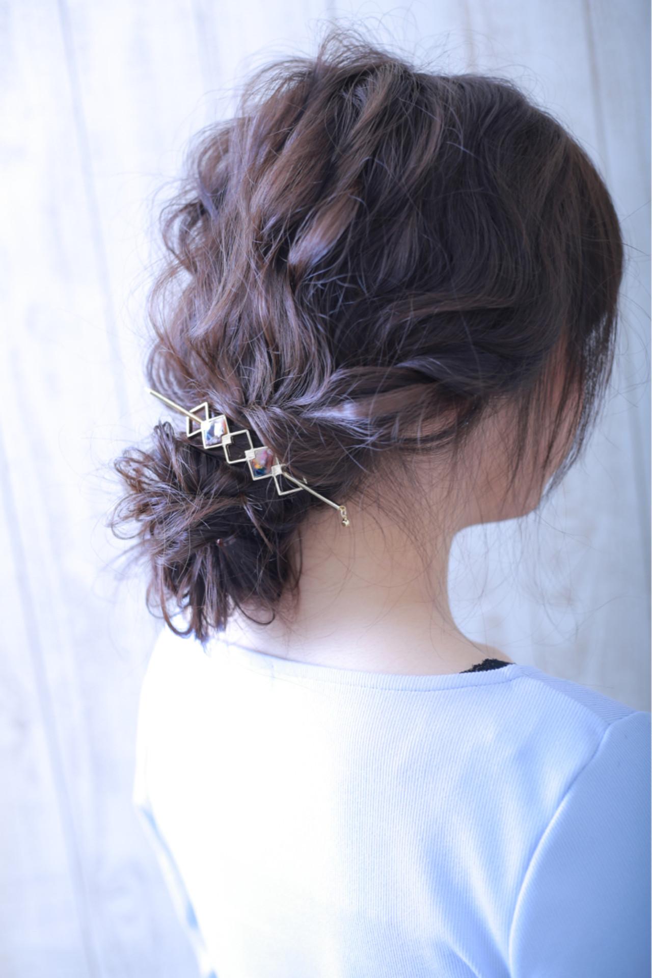 女子会 デート オフィス シニヨン ヘアスタイルや髪型の写真・画像