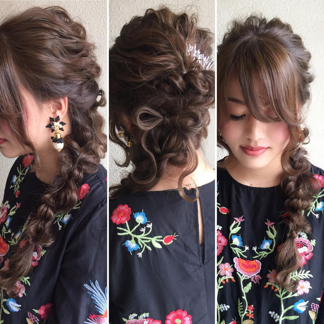 振袖 結婚式 ヘアアレンジ ロング ヘアスタイルや髪型の写真・画像