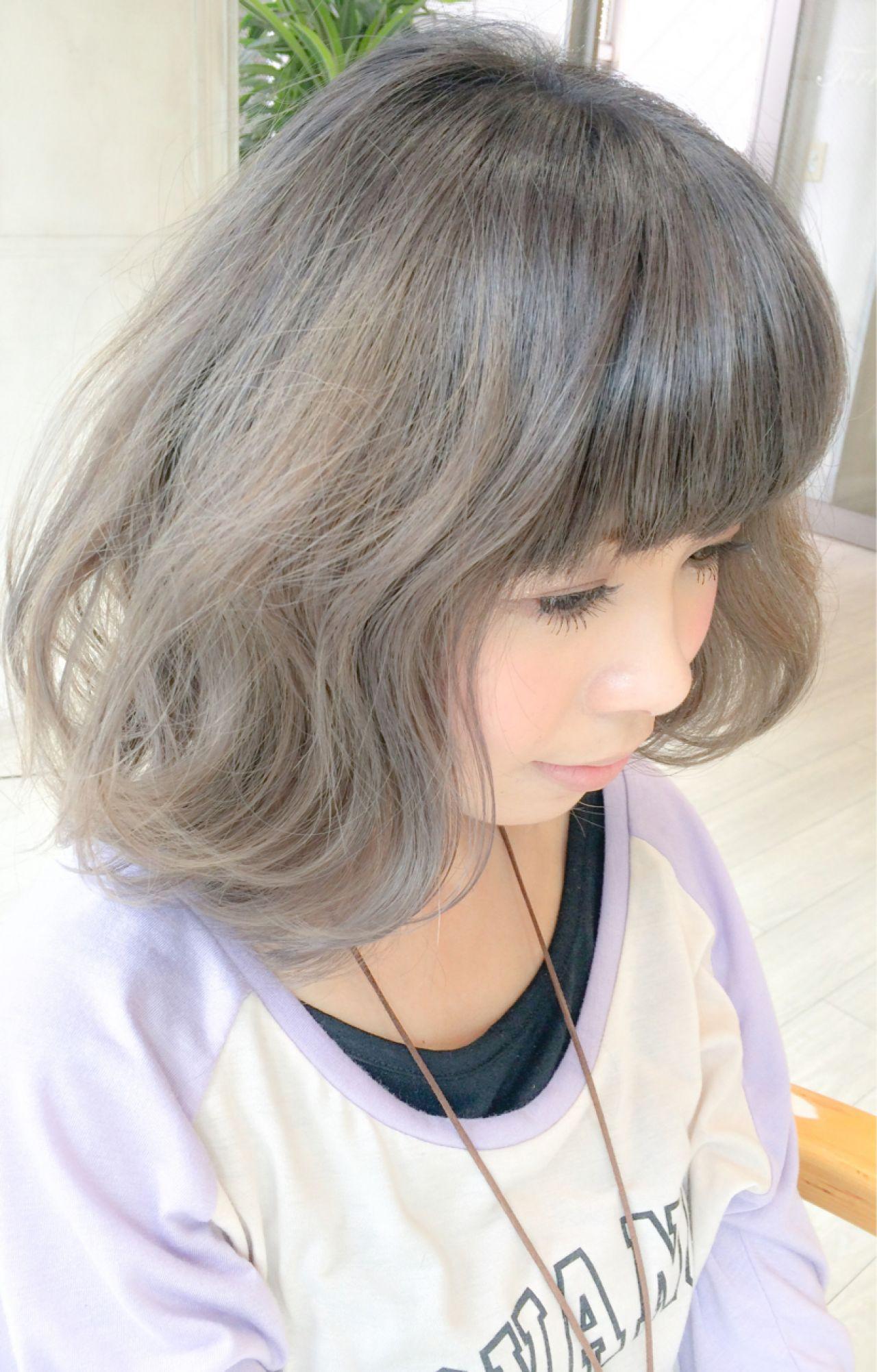 グラデーションカラー ストリート ガーリー グレージュ ヘアスタイルや髪型の写真・画像