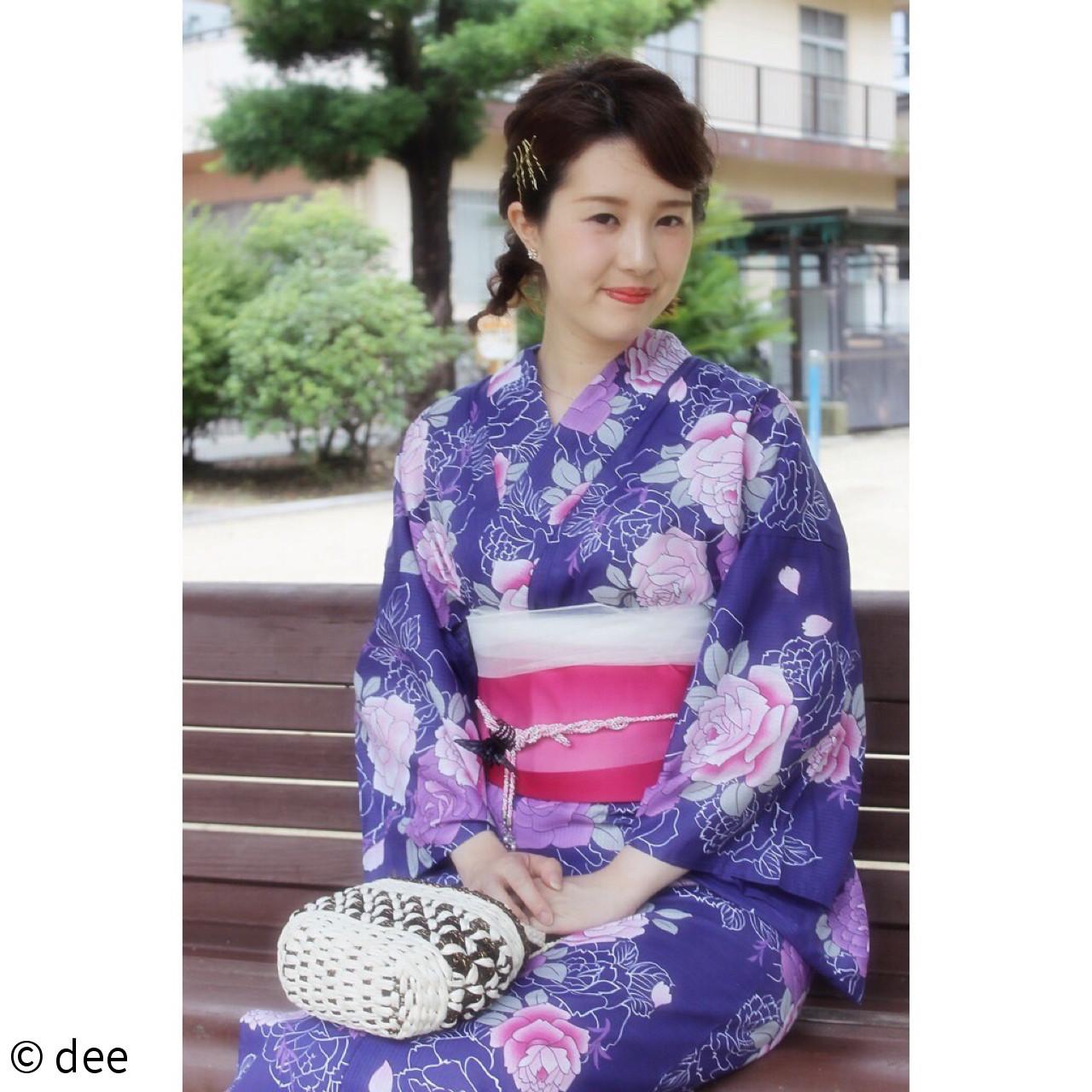 三つ編み ヘアアクセ ヘアアレンジ 夏 ヘアスタイルや髪型の写真・画像