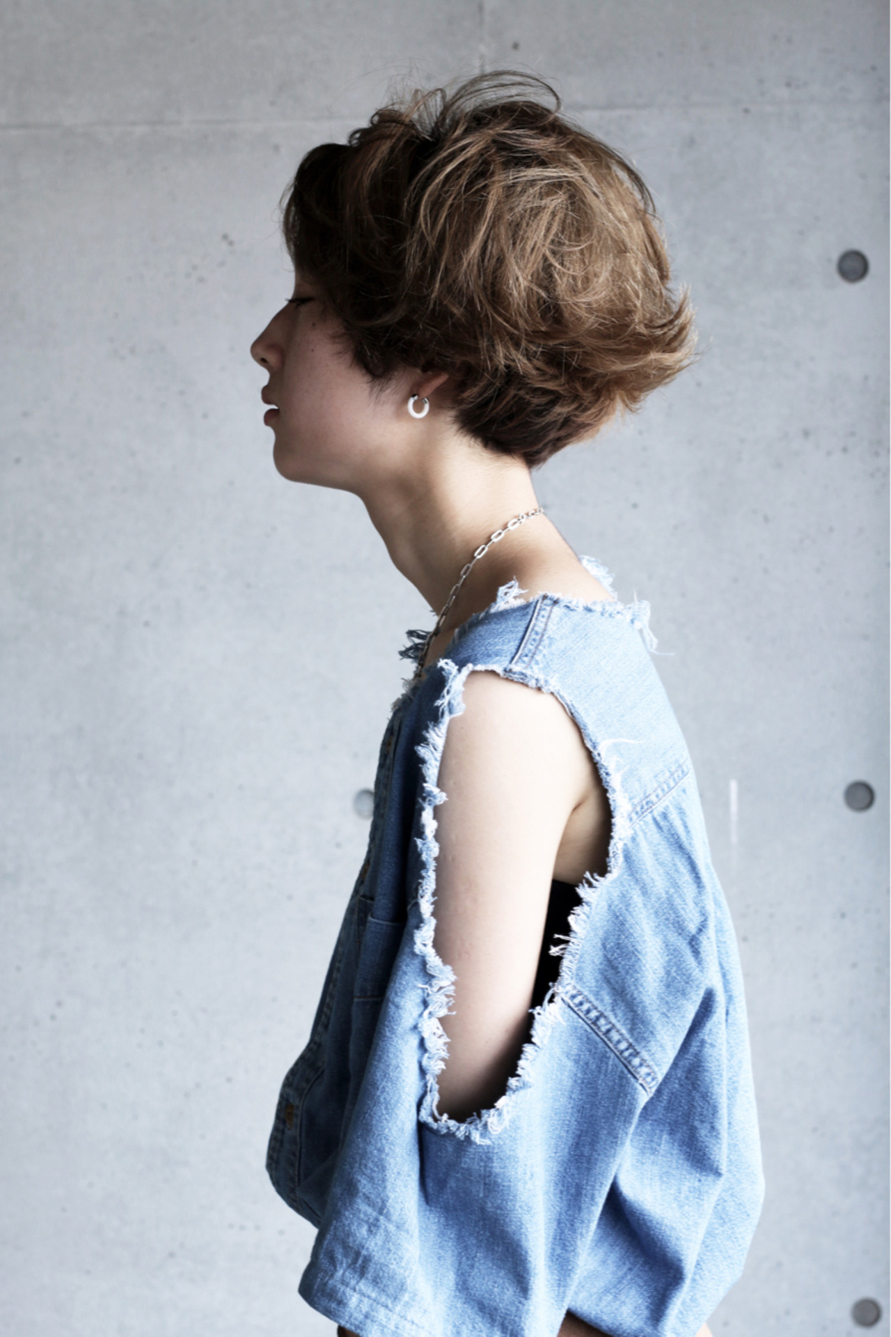 ベリーショート 小顔 かっこいい ストリート ヘアスタイルや髪型の写真・画像
