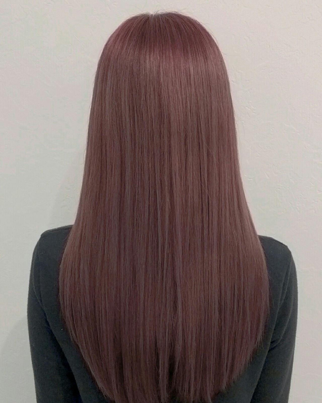 ガーリー 春 ストレート ロング ヘアスタイルや髪型の写真・画像