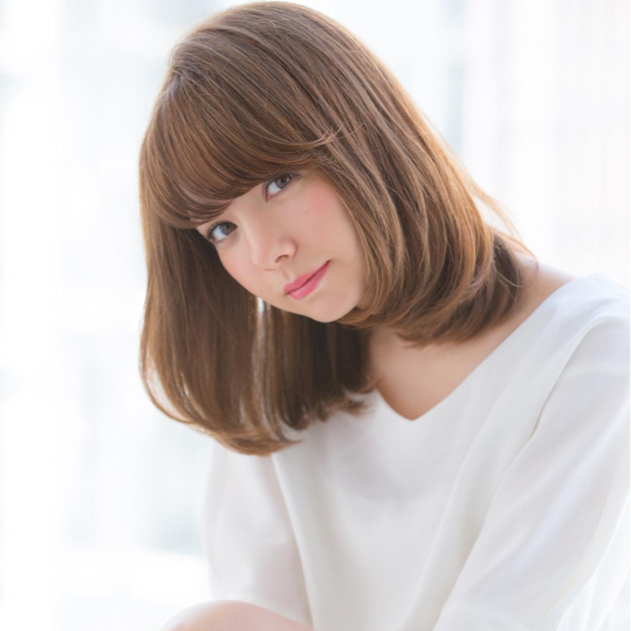 フェミニン 大人かわいい ワンレングス かわいい ヘアスタイルや髪型の写真・画像