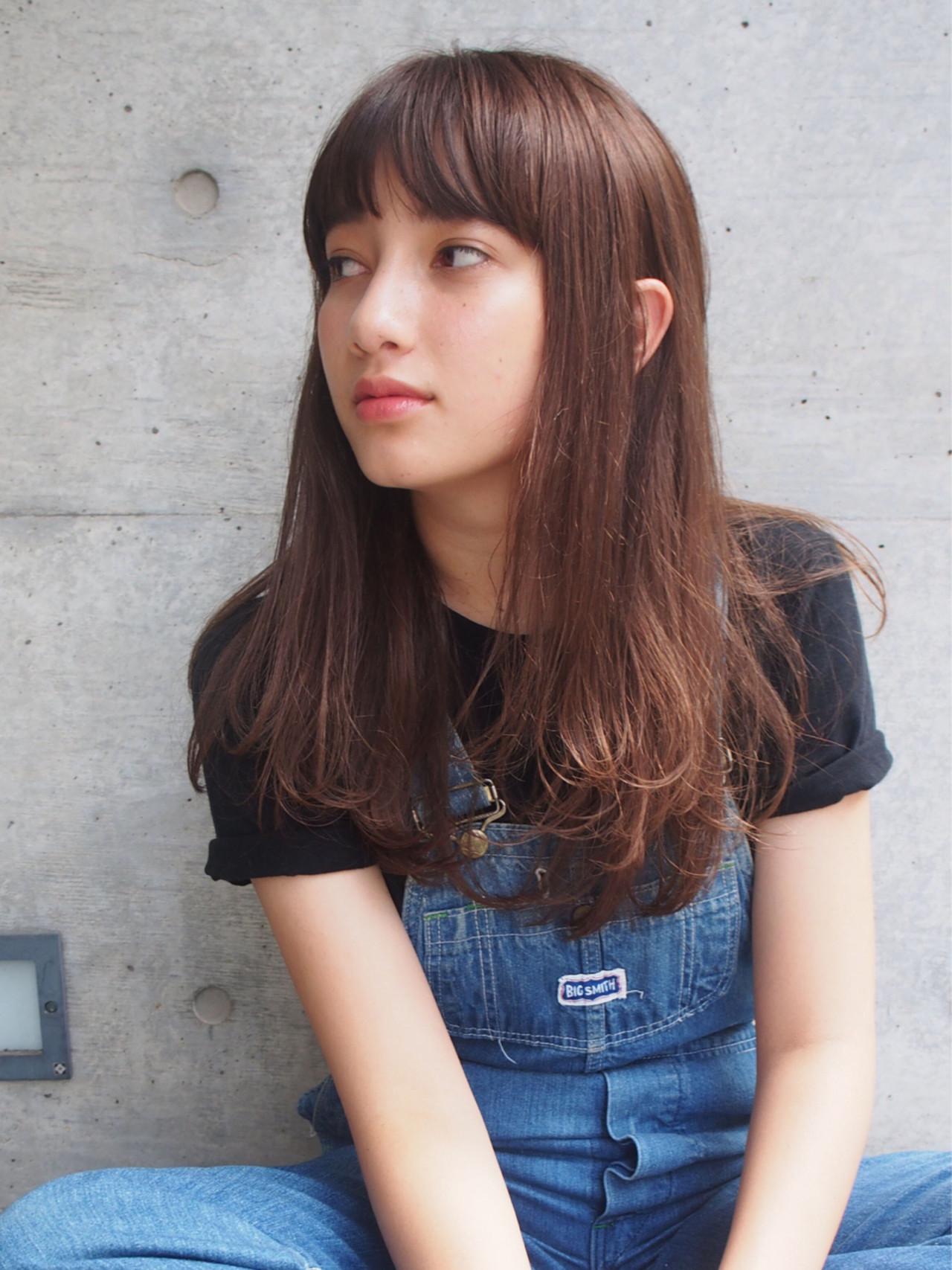 大人女子 セミロング 外国人風 ストリート ヘアスタイルや髪型の写真・画像
