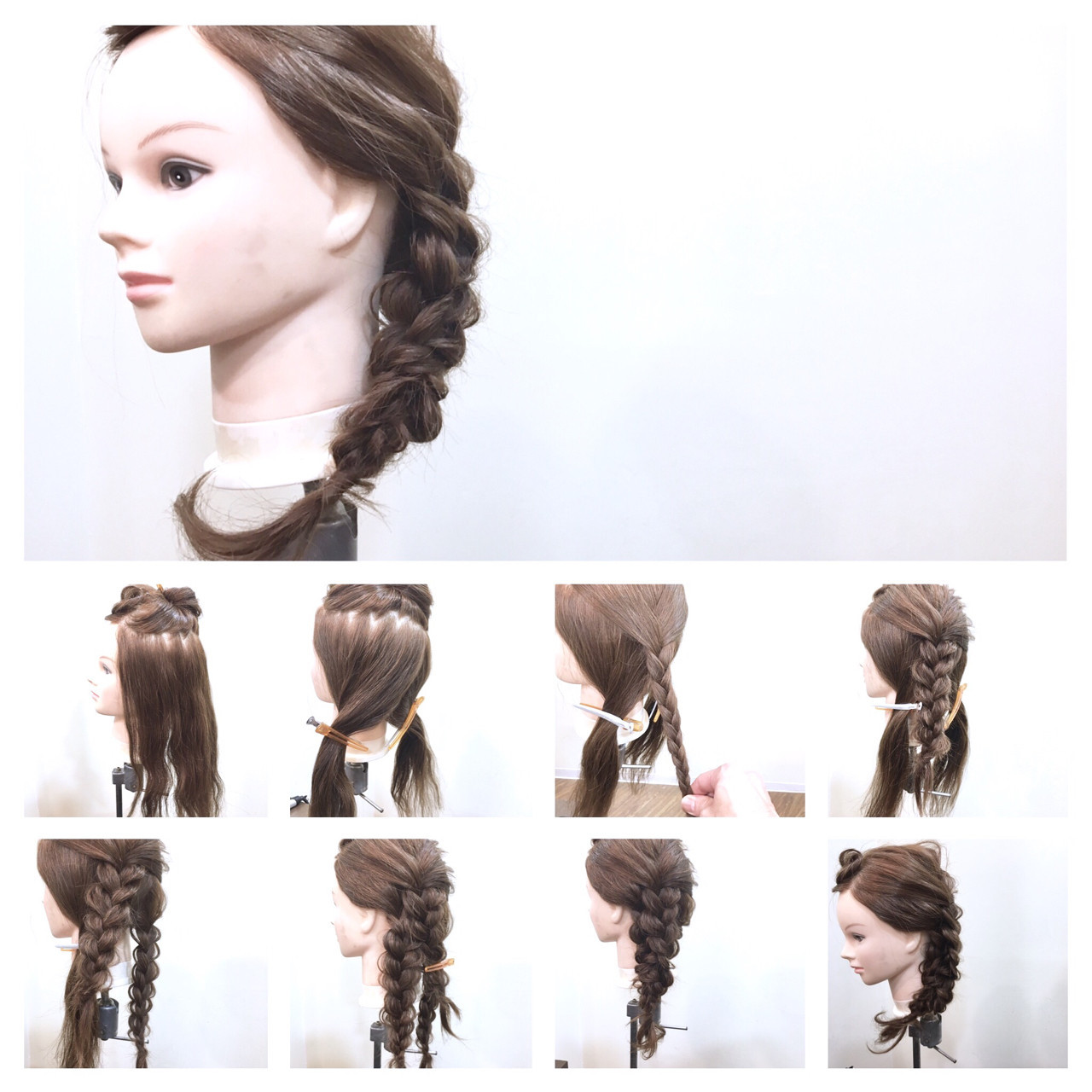 フェミニン セミロング ゆるふわ ヘアアレンジ ヘアスタイルや髪型の写真・画像