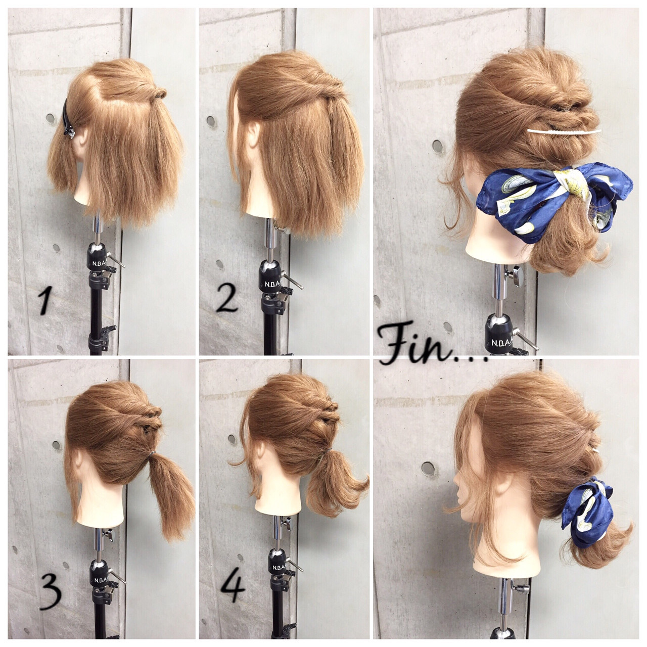 ボブ ショート ヘアアクセ 簡単ヘアアレンジ ヘアスタイルや髪型の写真・画像