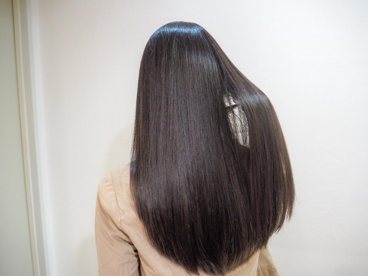 ナチュラル 黒髪 ロング 艶髪 ヘアスタイルや髪型の写真・画像