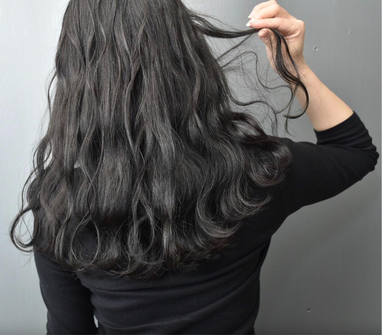 暗髪 ロング 女子会 デート ヘアスタイルや髪型の写真・画像