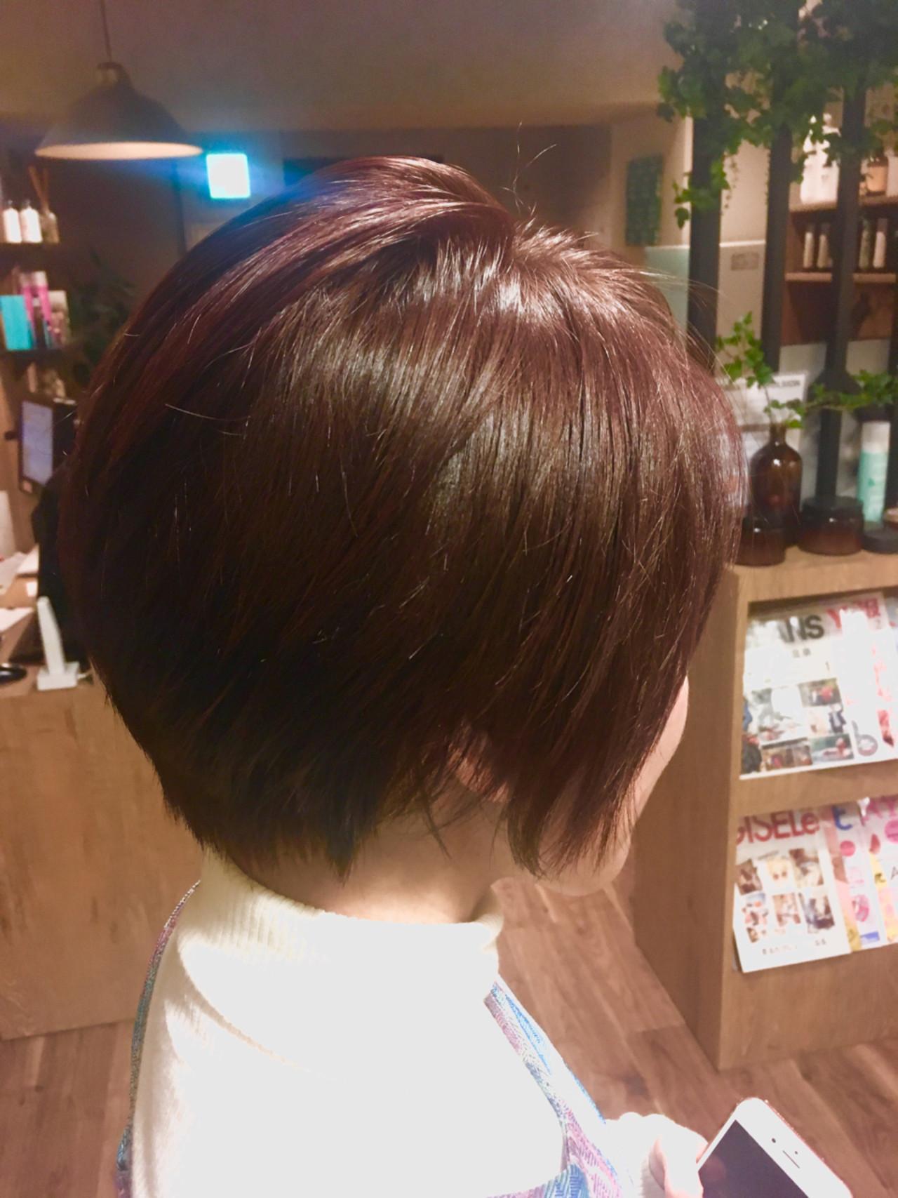 ナチュラル ショート ピンク 外国人風カラー ヘアスタイルや髪型の写真・画像
