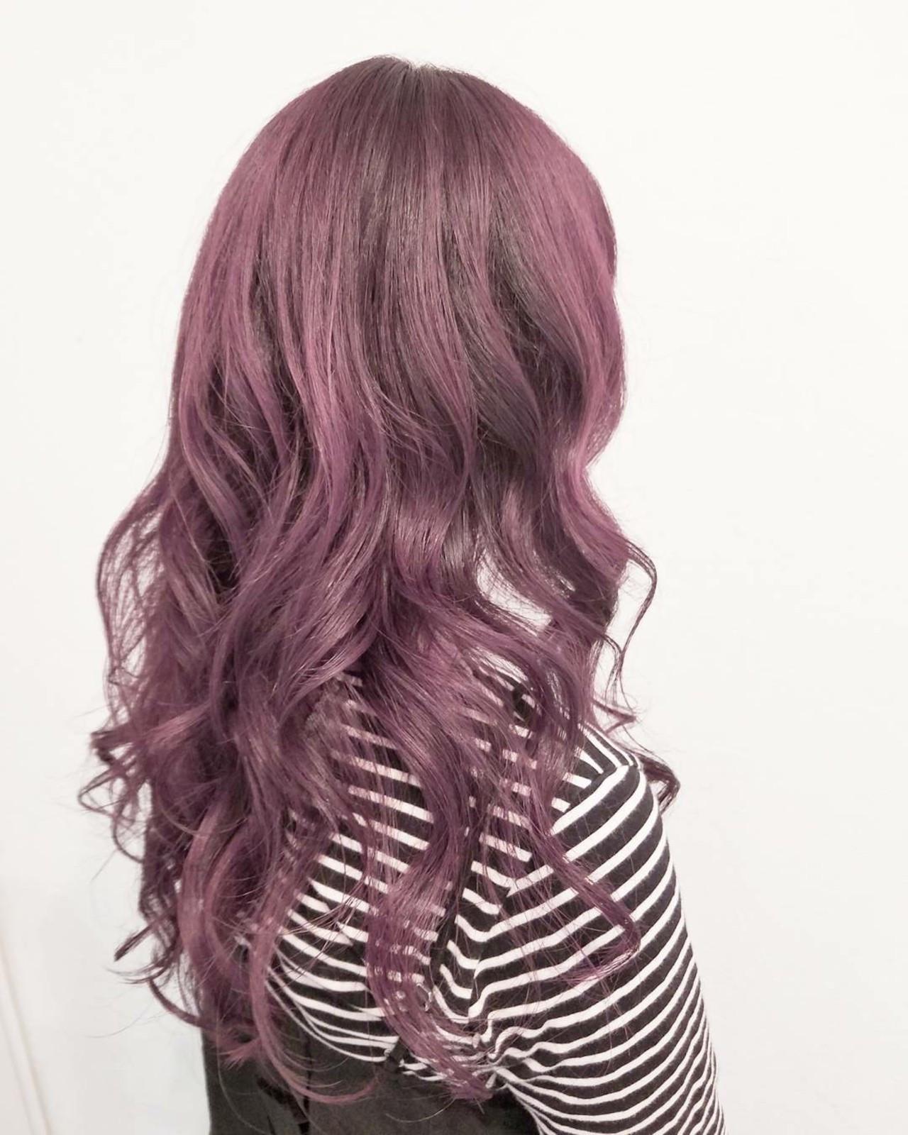 イルミナカラー ガーリー ロング 大人かわいい ヘアスタイルや髪型の写真・画像
