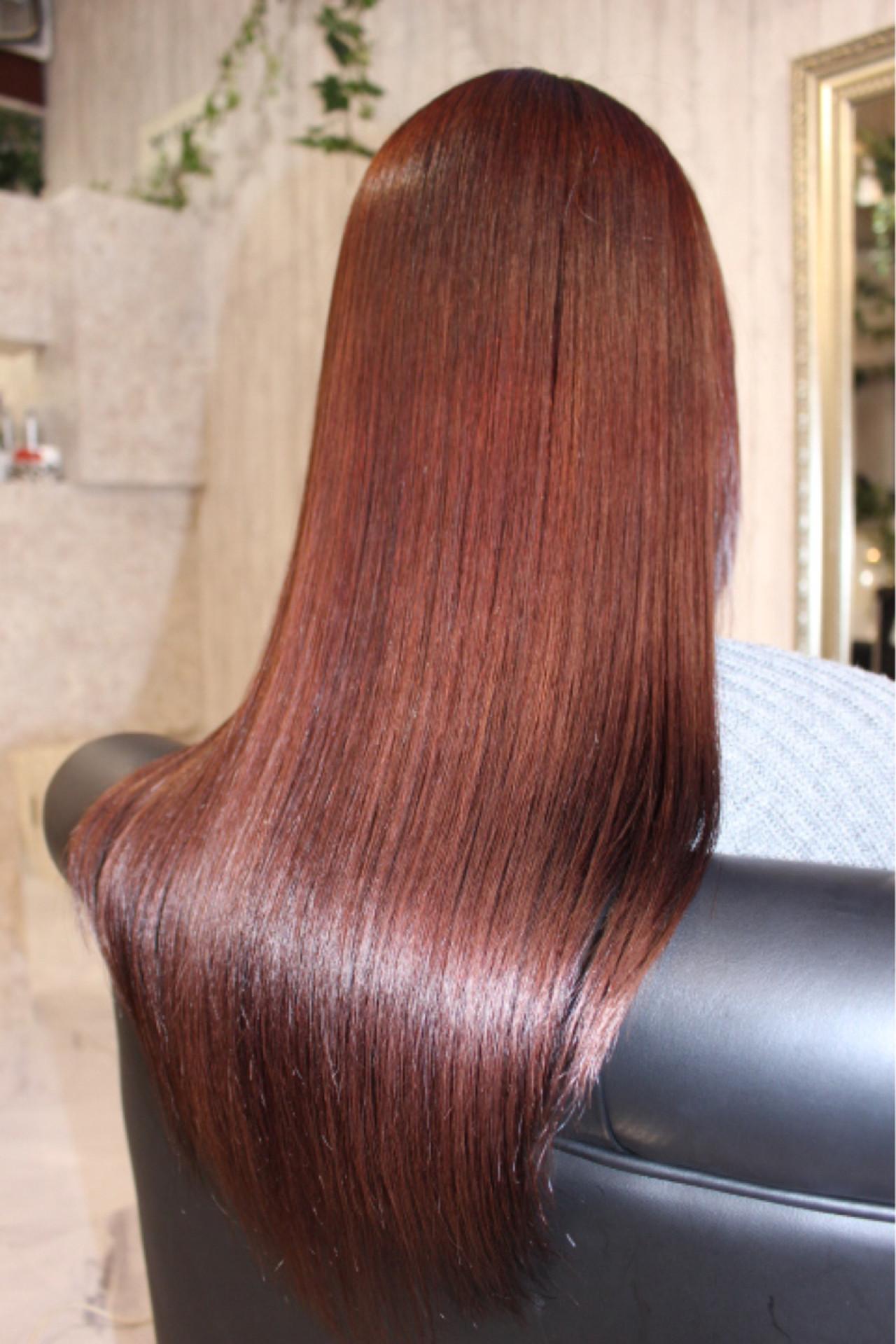 ピンク レッド 春 エレガント ヘアスタイルや髪型の写真・画像