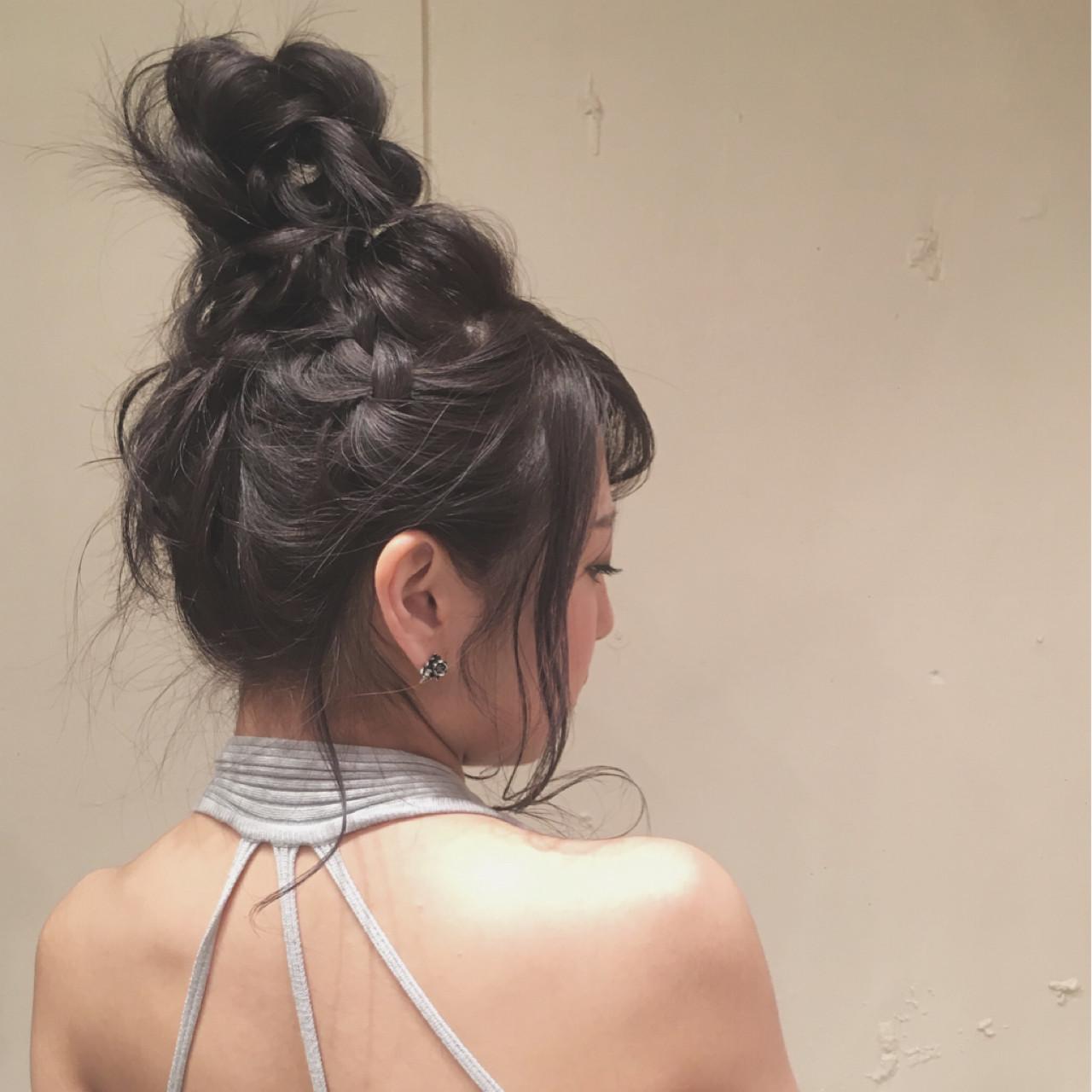 ヘアアレンジ ロング ナチュラル ゆるふわ ヘアスタイルや髪型の写真・画像