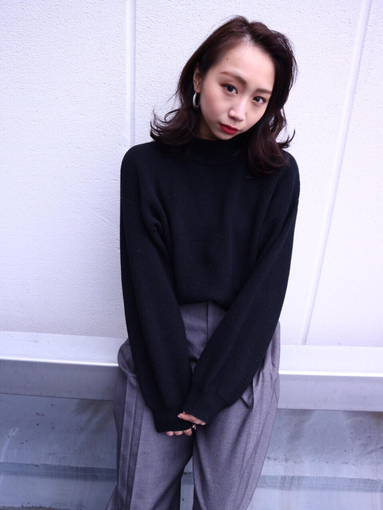 ミディアムに合わせたい!オススメの前髪なしスタイル10選 Takashi Tetone