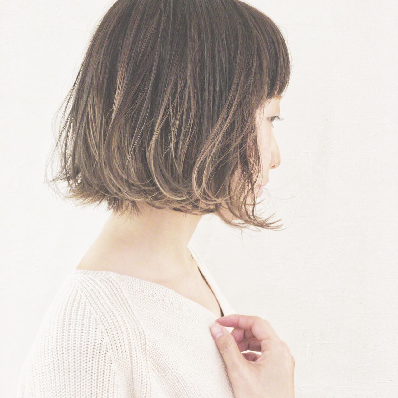 津村正和/ハーフグレージュ/ボブ/大阪