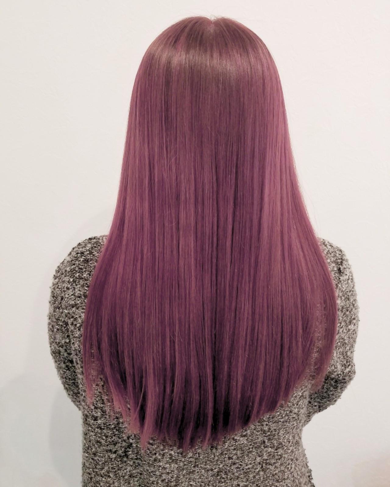 ガーリー ロング 大人かわいい ピンク ヘアスタイルや髪型の写真・画像