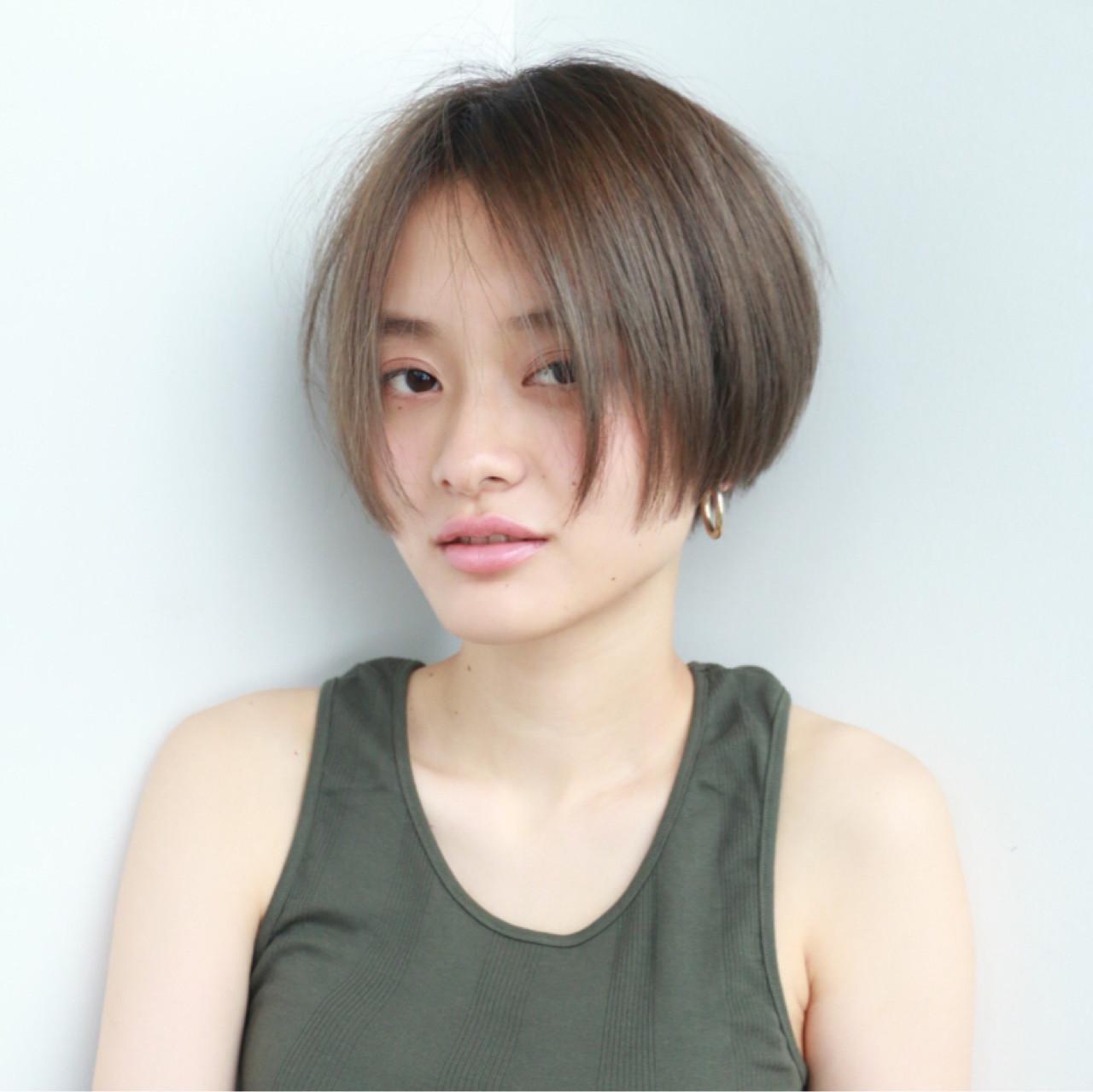 ストリート ブリーチ ダブルカラー フレンチセピアアッシュ ヘアスタイルや髪型の写真・画像