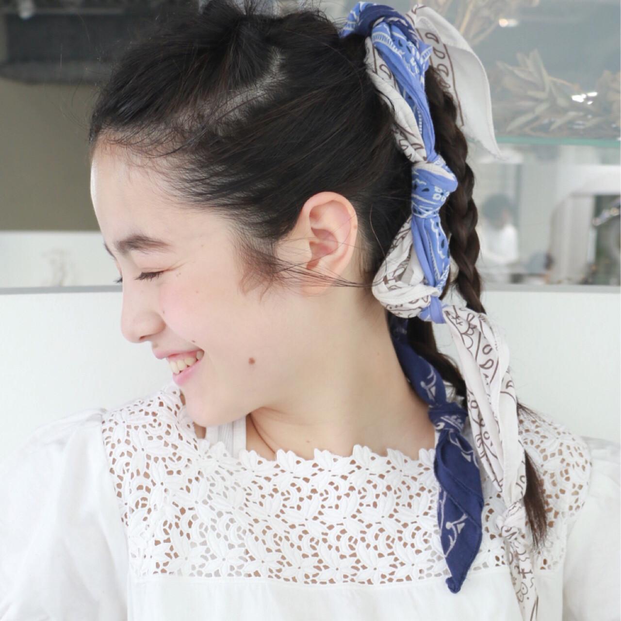 シンプルファッションにマッチ!バンダナを使ったおすすめヘアアレンジ 高橋 忍 | nanuk渋谷店(ナヌーク)