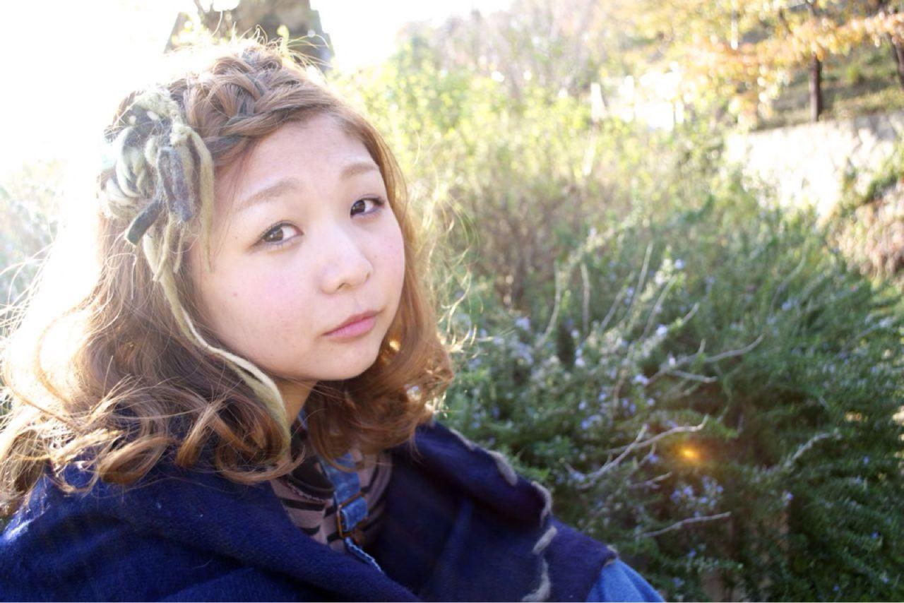 コンサバ 簡単ヘアアレンジ ミディアム モテ髪 ヘアスタイルや髪型の写真・画像