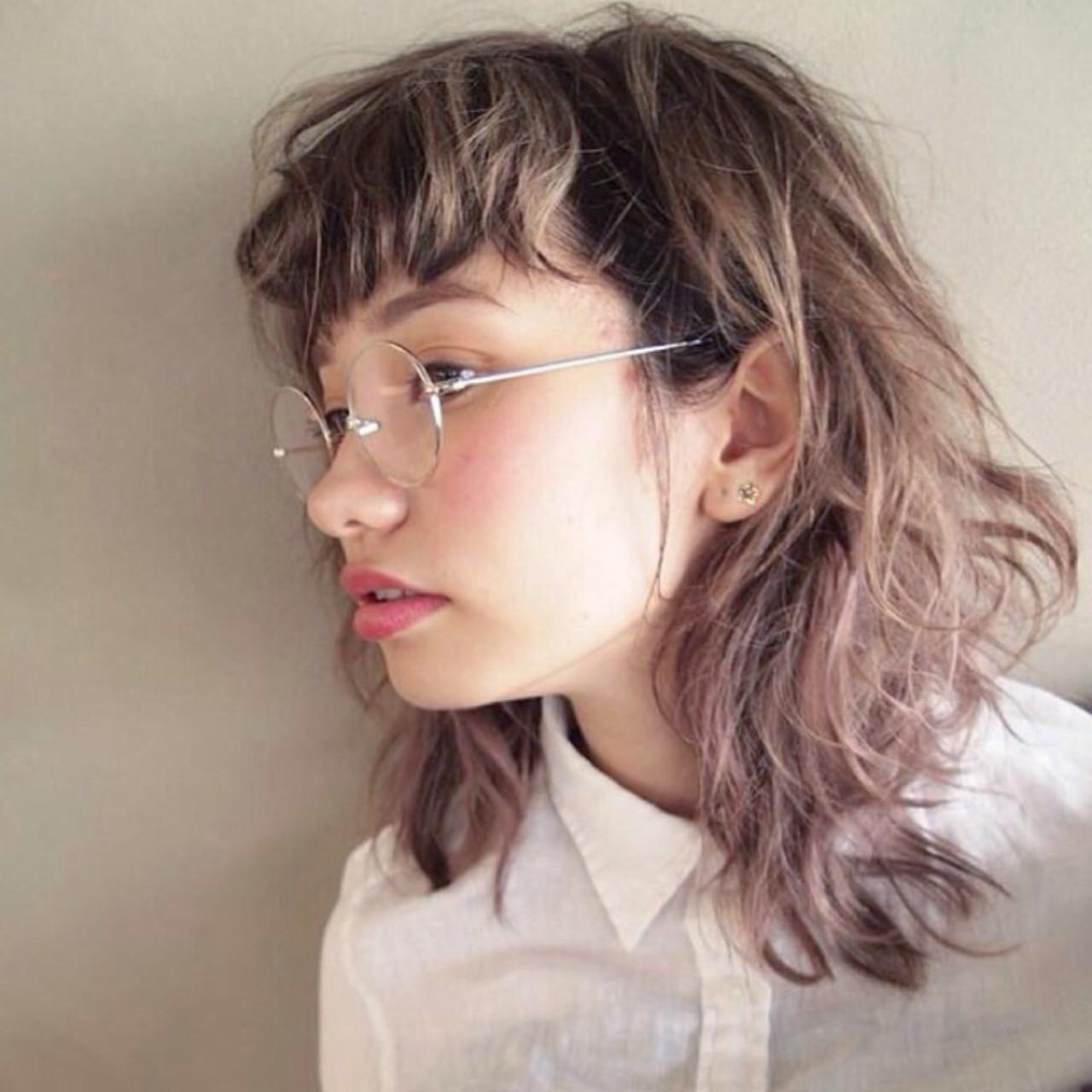 大人かわいい 透明感 フレンチセピアアッシュ ブリーチ ヘアスタイルや髪型の写真・画像